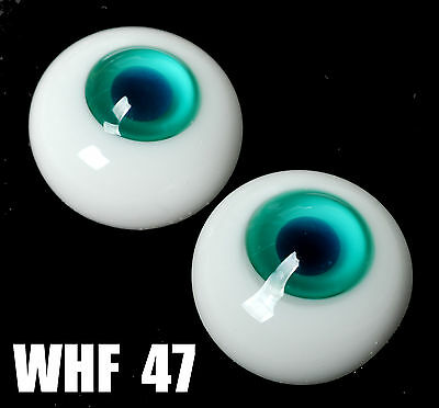 12MM Blue Green Iris&Pupil Glass BJD Eyes for AOD DOD DZ Volks Barbie Doll Luts