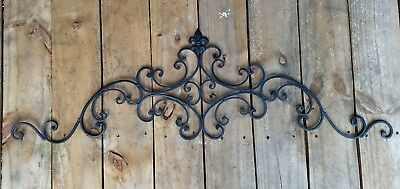 Cast Iron wall decor Fleur de Lis scrolls vine decorative curls metal wall decor