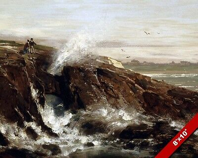 San Francisco California Lands End Painting Art 8X10 REAL CANVAS GICLEE PRINT