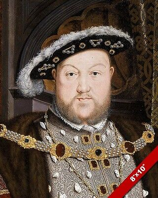King Henry Vii The Eighth Painting Portrait Real Canvas Giclee 8X10 Art Print