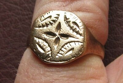 Ancient Artifact > Medieval Bronze Finger Ring SZ: 9 1/4 US 19mm 14751 DR