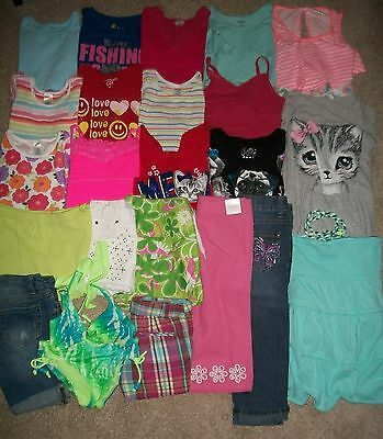 Guc! Lot Of 22 Girl Size 7 8 Name Brand Spring Summer Justice Gymboree Guc!