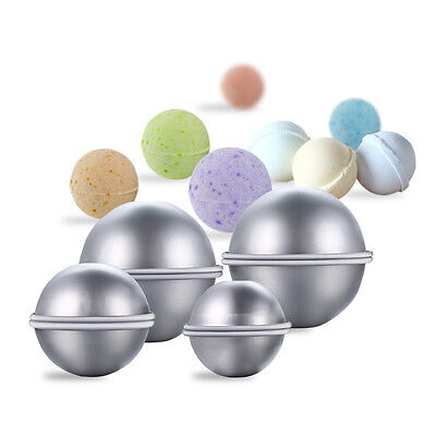 8 Set DIY Metal Bath Bomb Mold with 3 Sizes Aluminum for Crafting Own Fizzles