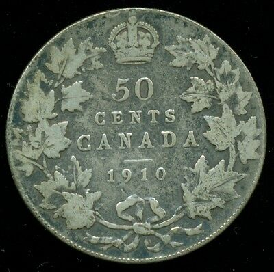 1910 Canada 50 Cent Piece, King Edward VII