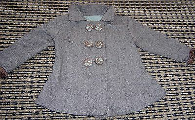 Chino Baby Girls Wool Blend Vintage Style Jacket Sz 6 Months
