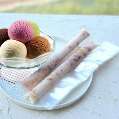 20PCS DIY Ice Cream Maker Popsicle Mold Ice Candy Disposable Bags Self Sealing