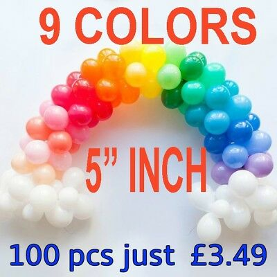 "WHOLESALE JOB LOT 5"" INCH balloons 10 colours party birthday wedding decoration"