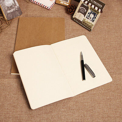Cowhide Paper Vintage Cover Travel Journal Notebooks Blank Notepad OffceSupplies