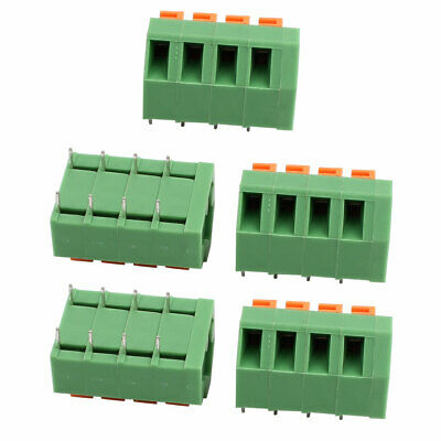 5pcs KF237 300V 10A 5.08mm Pitch 4P Spring Terminal Block for PCB Mounting