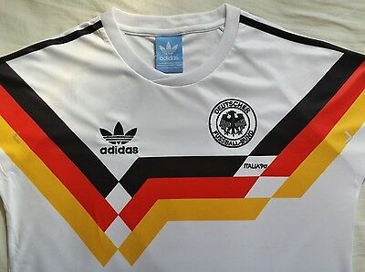 Embroidered 1990 West Germany Football Retro Shirt - BNWT - World Cup - Adidas