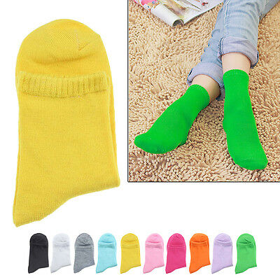 Soft Ladies Women Girls Candy Colored Cute Sprots Socks Middle Tude Socks
