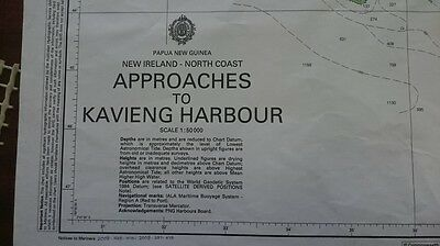 666 Papua New Guinea New Ireland Nautical Chart Map Navigation Rare Collectables