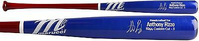 Anthony Rizzo Chicago Cubs Autographed Marucci Red and Blue Bat