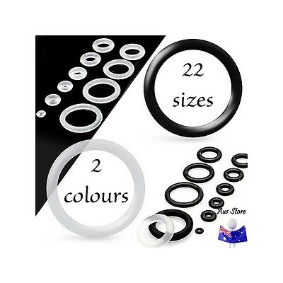 1XNew PAIR Silicone O-Ring 0.5mm - 22mm AUS STORE