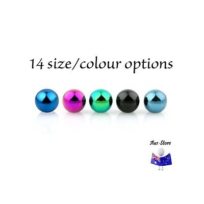 1XNew Titanium Anodised Snap in Ball AUS STORE