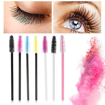 Disposable Eyelash Makeup Brush Mascara Wands Lash Extension Spoolers Applicator