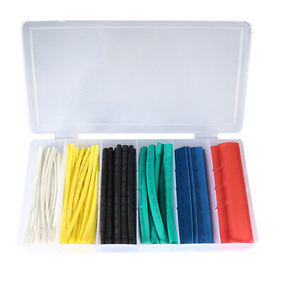 100pcs 2:1 Heat Shrink Tubing Tube Sleeving Wrap Cable Wire 6 Color 6 Size