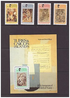 Turks & Caicos Islands 1981 Art Artist Pablo Picasso set  sheet  MNH mint