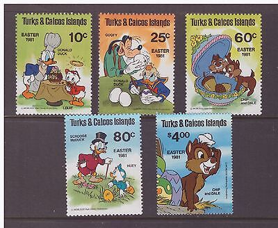 Turks & Caicos Islands 1981 Animation, Cartoons,Walt Disney  set MNH mint stamps