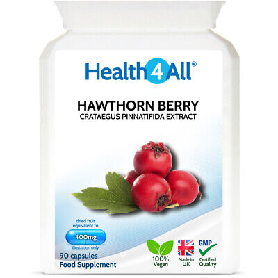 Hawthorn Berry 400mg 90 Capsules | HEARTH HEALTH | ATHEROSCLEROSIS SUPPORT