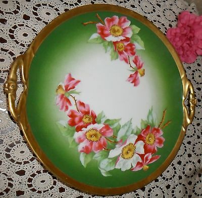 Antique Turn Of Century Hand Painted Charger Plate Coronet Limoges France