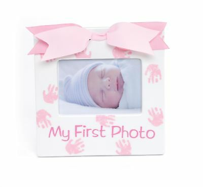 MUD PIE My 1st Photo Ceramic Picture Frame Baby Girl Gift  NEW