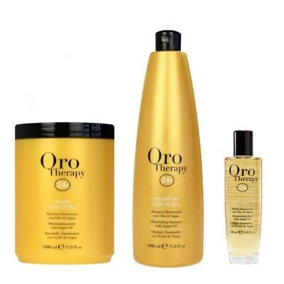 Fanola Oro Therapy Mask 1000ml + Shampoo 1000ml + Fluido  100ml orotherapy