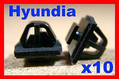 10 Mercedes front bumper fender panel lining bump strip fasteners clips