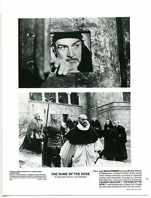 Name Of The Rose-Sean Connery-F. Murray Abraham-8x10-B&W-Still