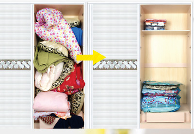 Sales!Roll-up Compression Storage Bag No Vacuum Space Saving Seal Travel Luggage