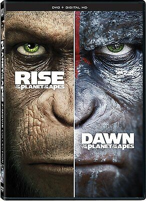 Rise + Dawn Of The Planet Of The Apes: Complete Reboot Movies 1 & 2 Box/DVD Set