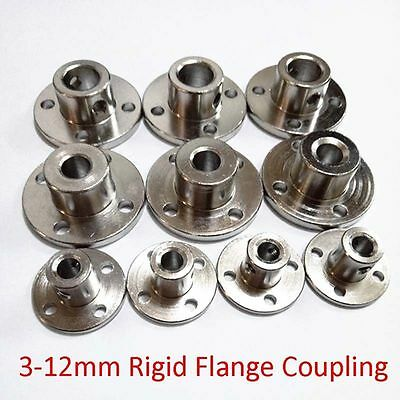 3/4/5/6-12mm Rigid Flange Coupling Motor Guide Shaft Coupler Metal Bearing Seat
