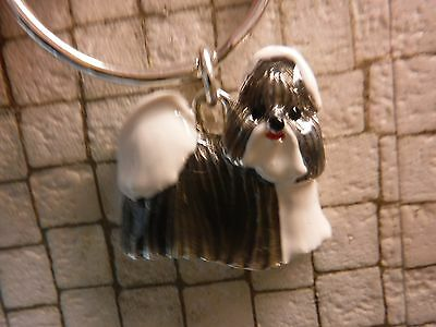 NEW Adorable Lhasa Apso Metal Keychain in a Dog Carrier Gift Box- Orig $14.00