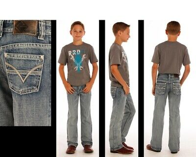 "Rock & Roll Cowboy Kid's BB Gun ""V"" Embroidery Regular Fit Jeans BB-1467"