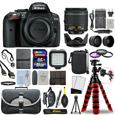 Nikon D5300 Digital SLR Camera with 18-55mm Lens + 16GB Mega Accessory Bundle