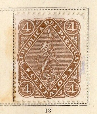 Paraguay 1881 Early Issue Fine Mint Hinged 4c. 154097