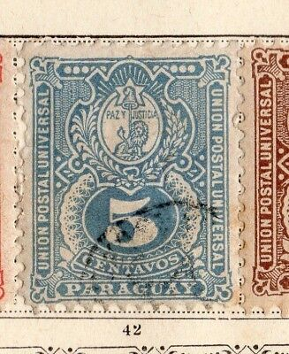 Paraguay 1887 Early Issue Fine Used 5c. 154105