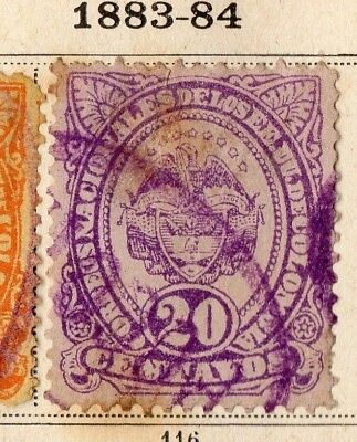 Colombia 1883-84 Early Issue Fine Used 20c. 154121