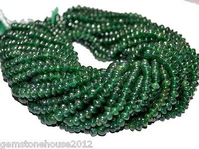 "R-1217 Natural Gemstone Aventurine Rondelle Plain Beads 13"" Wholesale $"