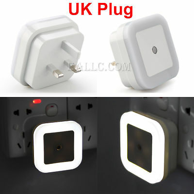 Automatic LED Night Light Plug in Energy Saving Light Baby Home Dark Wall Lamp