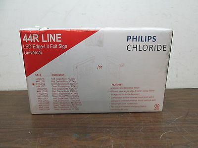 Philips Chloride 44R Line LED Edge-Lit Exit Sign 44RLU1G Green Single AC Only