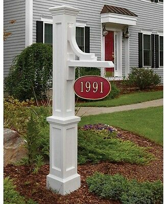 Mayne Woodhaven Address Sign Post Box Home Office 5812-WH UV Resistant White