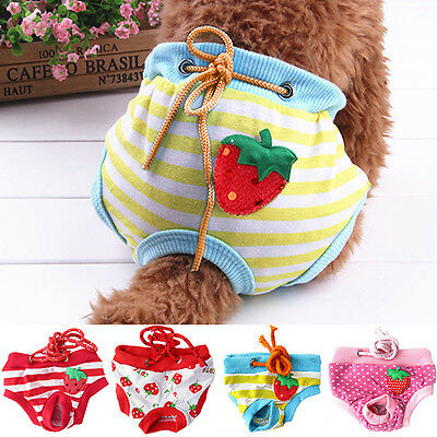 Reuseable Female Pet Dog Pants Pads Bitch Menstrual Sanitary Nappy Diaper S-XL