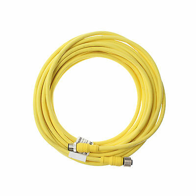 Mencom Mdcp-8Mfp-10M Microdc M12 Male To Female 8-Pin Cable Assembly, 5-Meter