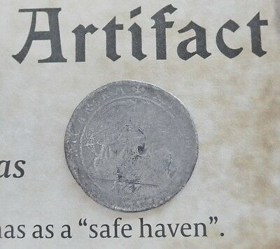 1767 Silver Grade 2 Danish West Indies 12 Skilling Salvaged Pirate Treasure Coin