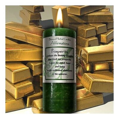 Blessed Herbal Prosperity Affirmation Candle ~ Coventry Creations
