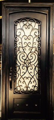 Wrought Iron Entry Doors, Single Door SD38003  3x8 door, Custom sizes available