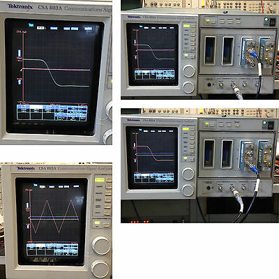 TEKTRONIX CSA 803A COMMUNICATIONS SIGNAL ANALYZER - UP TO 50 GHZ WITH 2 SD-26s