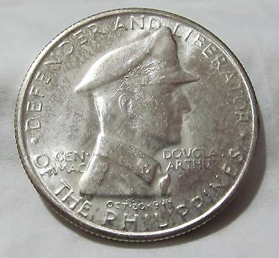 1947-S Philippines ONE PESO - General Douglas MacArthur - Top Coin