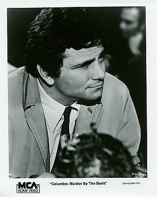 Columbo:murder By The Book-1971-8X10 Promo Still-Peter Falk-Mystery-Crime